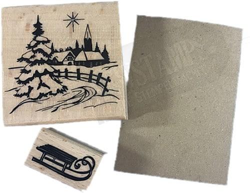 Weihnachtskarte Material