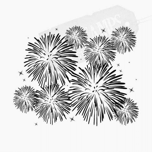Motivstempel Feuerwerk