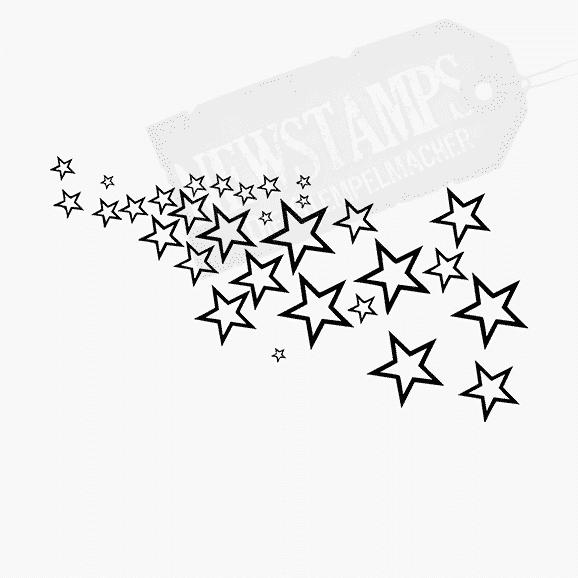 Motivstempel Sternenschwarm kleine Sterne