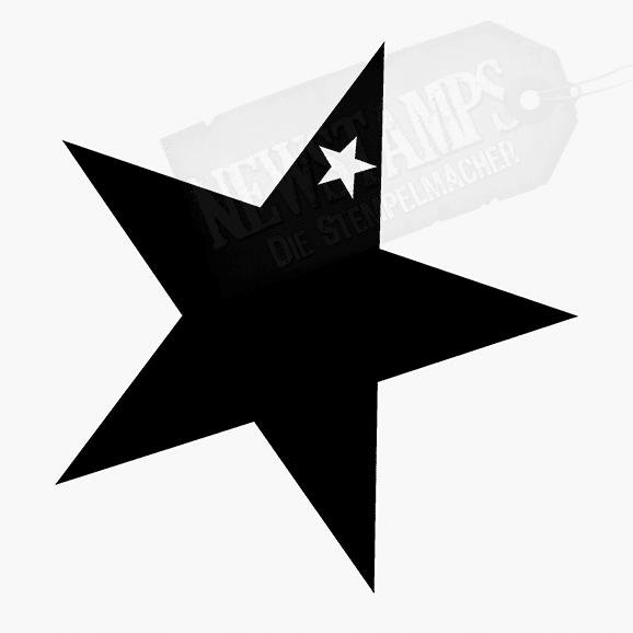Motivstempel Stern voll vollflächiger Stempelabdruck mit kleinem Stern innen