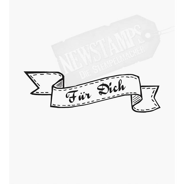 Motivstempel Banner Für Dich