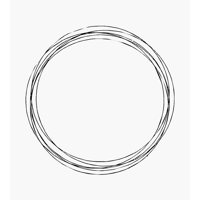 Motivstempel mehrere gleich große Kreise überlappend ineinander