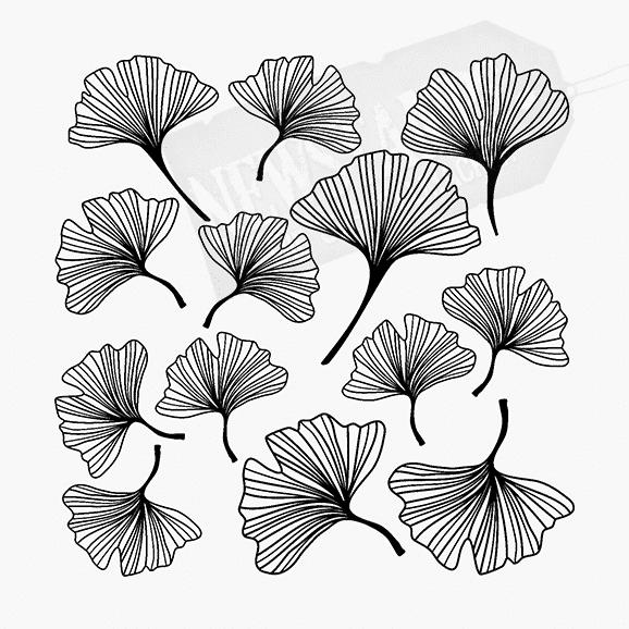 Florales Motiv Gingko Hintergrund