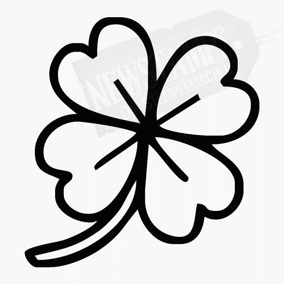 Florales Motiv Kleeblatt Glücksklee