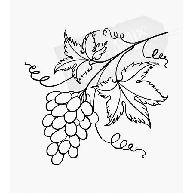 Florales Motiv Weintaube mit Blättern