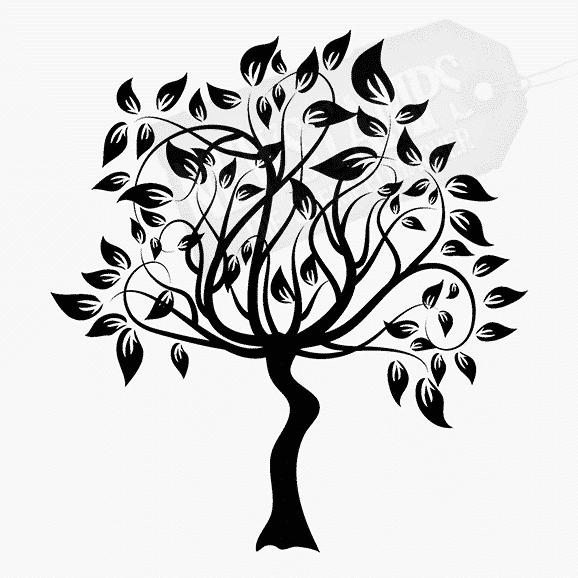 Florales Motiv Baum mit Blättern