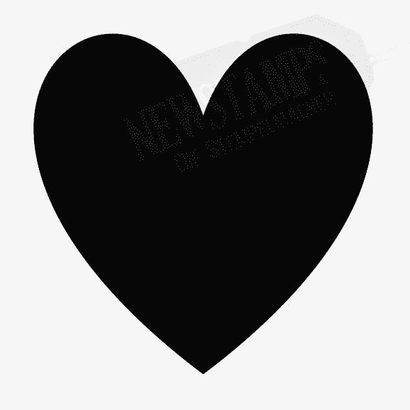 Motivstempel vollflächiges Herz