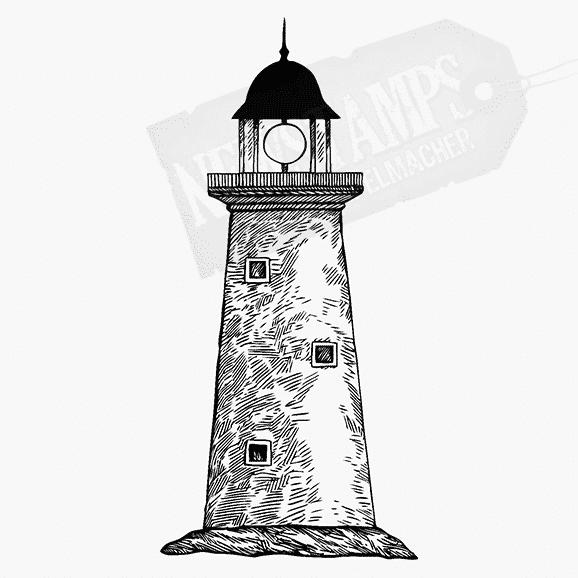 Motivstempel Leuchtturm mit drei Fenstern