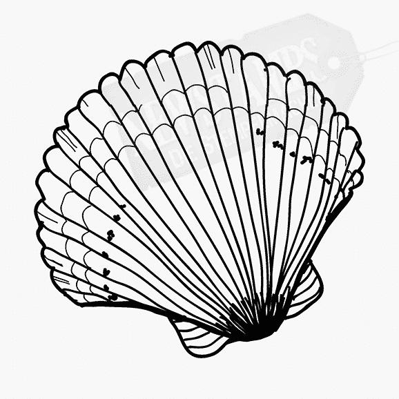 Motivstempel mit einer Strandmuschel