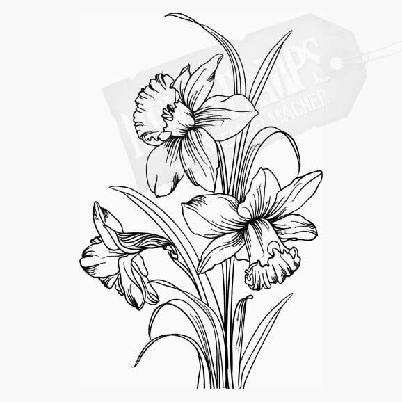 Osterglocken Osterstempel Blumenstempel Motivstempel