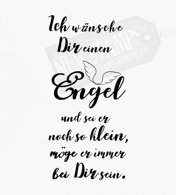 "Motivstempel ""Ich wünsche Dir einen Engel..."" - Newstamps"