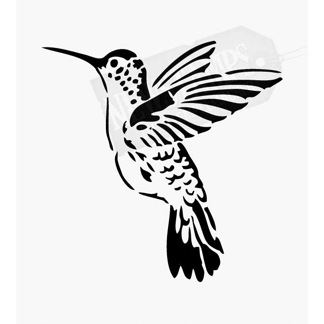 Tierstempel kleiner Kolibri fliegend