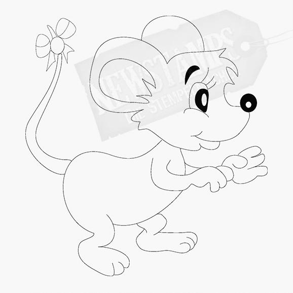 Tierstempel kleines Mäuschen