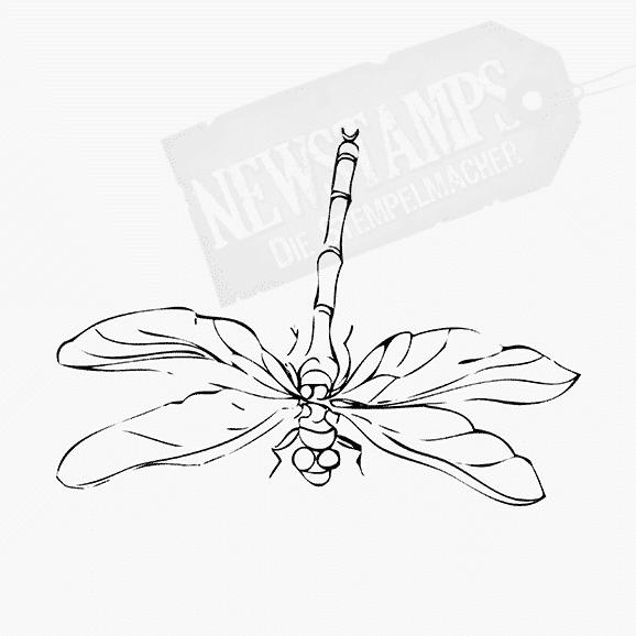 Tierstempel Libelle