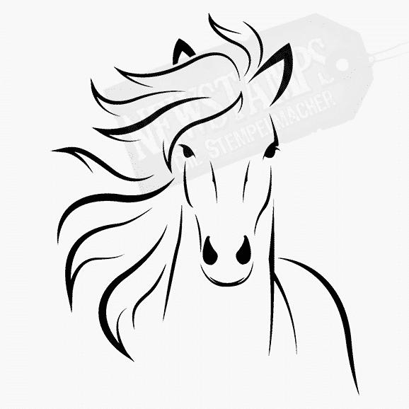 Tierstempel Pferdesilhouette