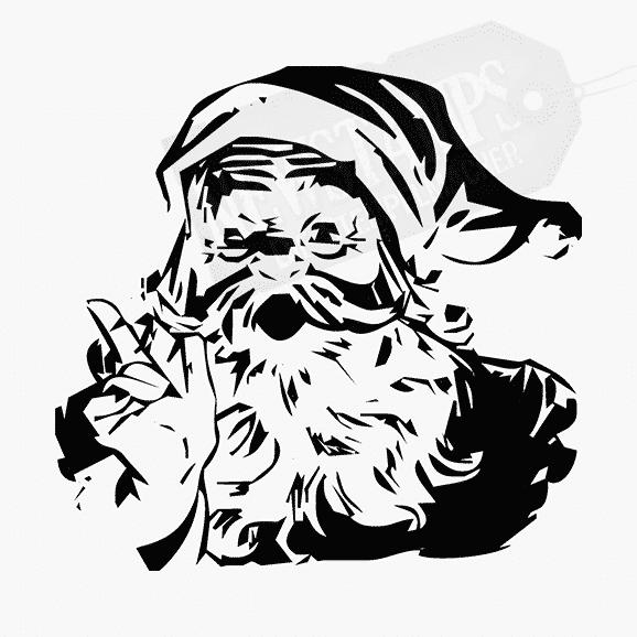 Weihnachtsstempel Nickolaus sprechend mit erhobennen Zeigefinger