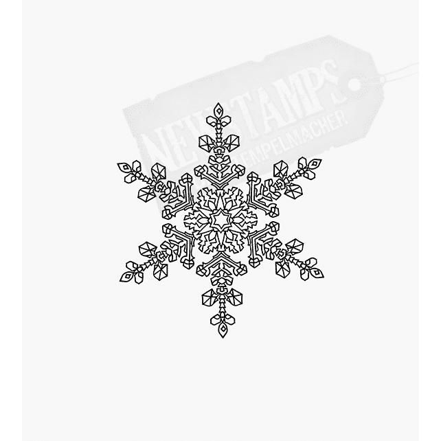 Weihnachtsstempel zarte kleine Schneeflocke