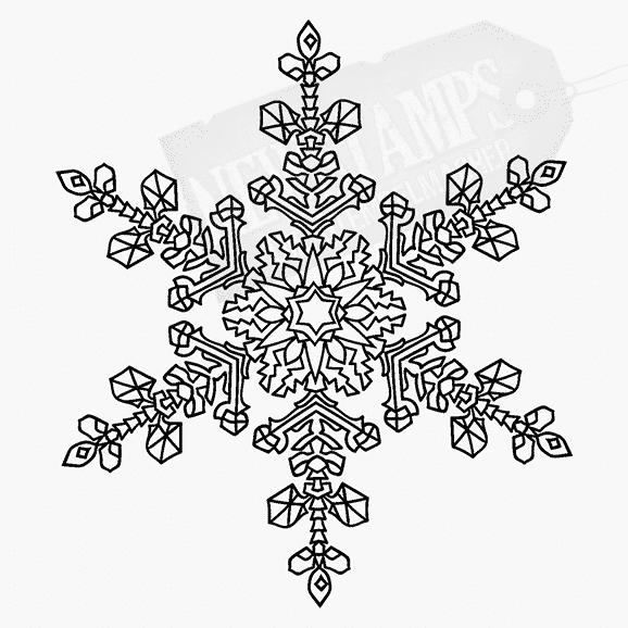 Weihnachtsstempel zarte Schneeflocke groß