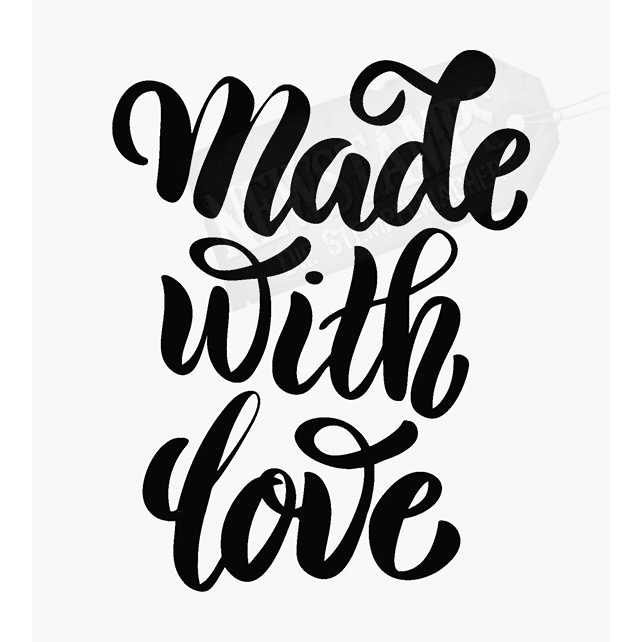 Spruchstempel Made with Love