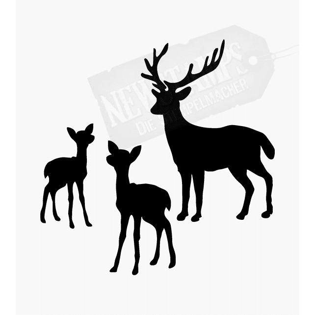 Tierstempel Hirsch und Kitze