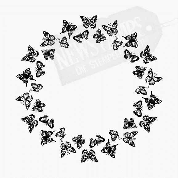 Tierstempel Kleine Schmetterlinge in Kreisformation