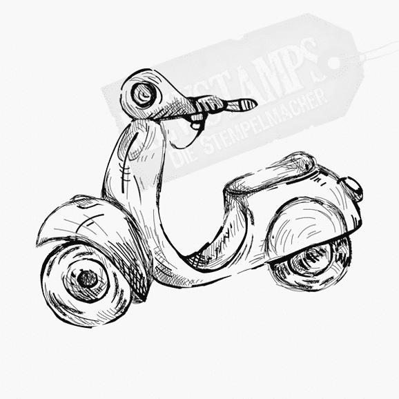 Motivstempel Motorroller