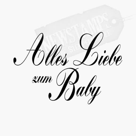 Spruchstempel Alles liebe zum Baby