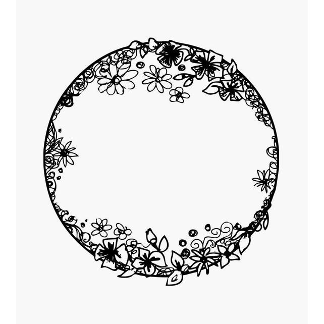 Blumenkreisel lauter Blüten an einem Kreis Florales Motiv
