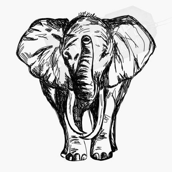 Tierstempel Elefant