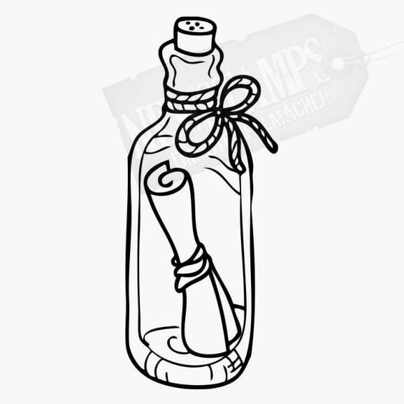 Motivstempel Flaschenpost