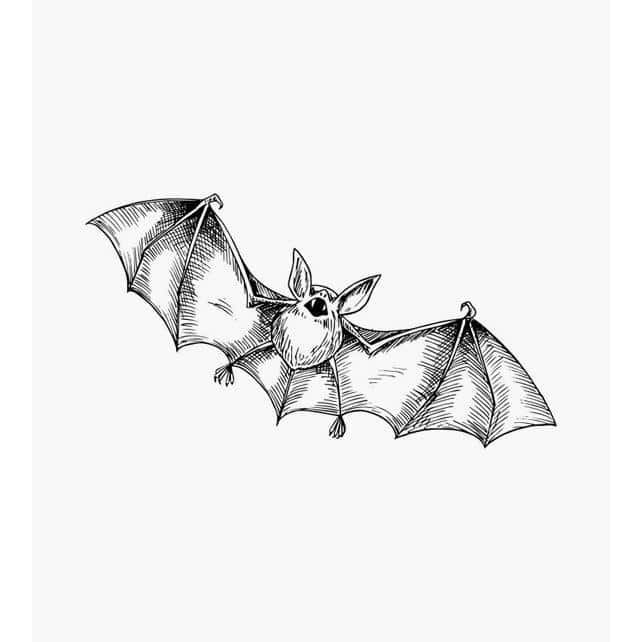 Fliegende Fledermaus Tierstempel