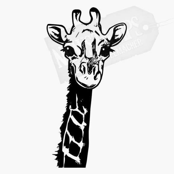Giraffenkopf Tierstempel