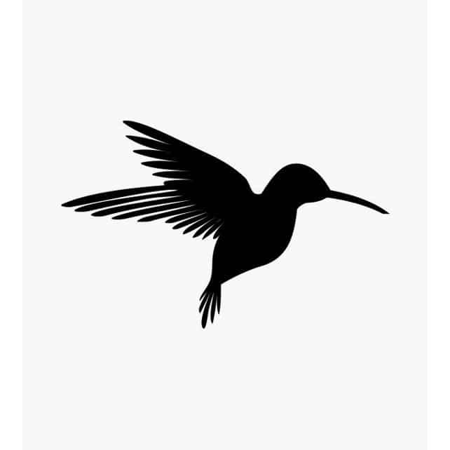 Tierstempel Kolibri vollflächig
