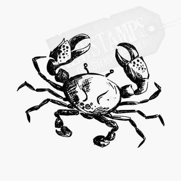 Krabbe Motivstempel