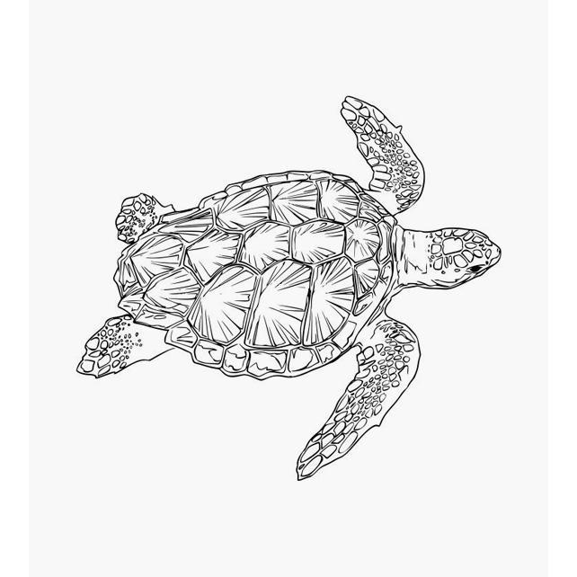 Schildkröte Tierstempel