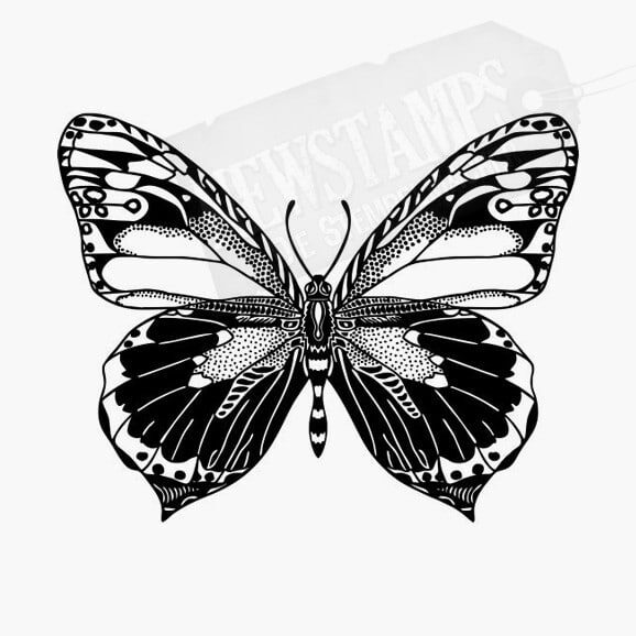 Schmetterling Tierstempel