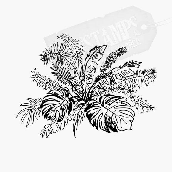 Florales Motiv Tropische Blätter