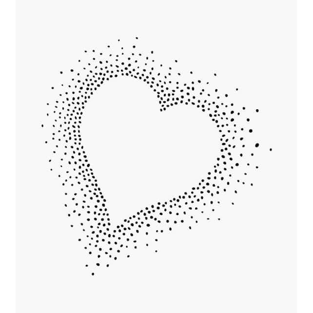 Motivstempel gepunktetes Herz