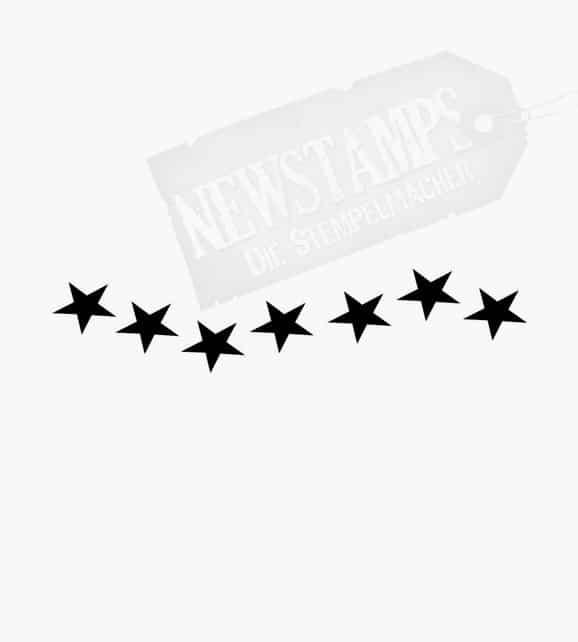 Geschwungene Reihe aus Sternen Motivstempel