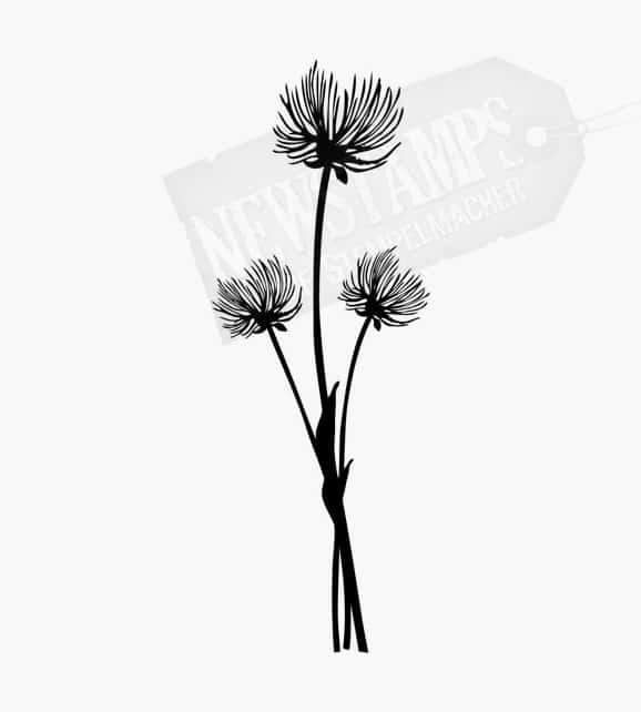 Blumenstempel Drei Pusteblumen