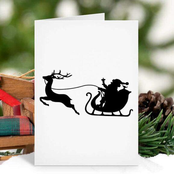 W037_Weihnachtsmann_mit_Rentier_WH_Schlitten_Zweig