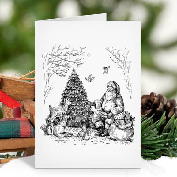 w106-weihnachtsmann-im-wald-newstamps-webshop-stempel-weihnachten-01