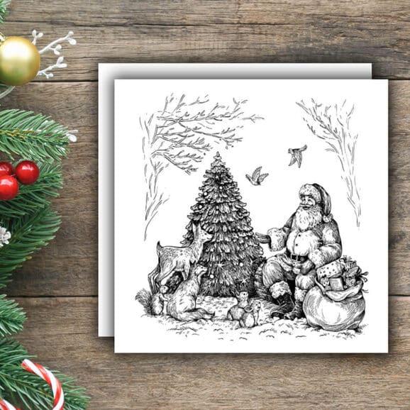 w106-weihnachtsmann-im-wald-newstamps-webshop-stempel-weihnachten-02